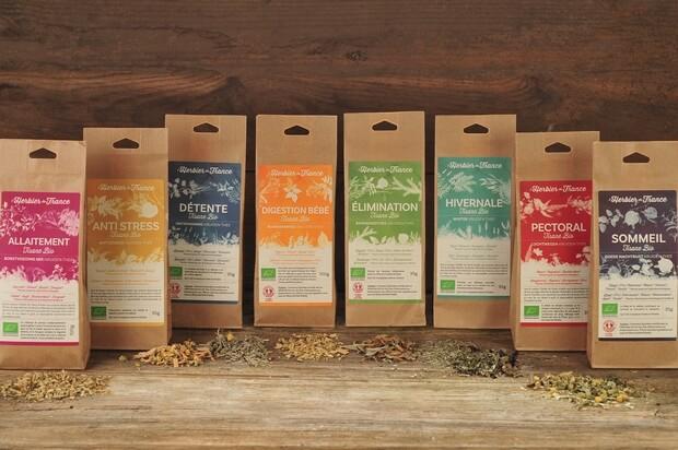 Produits Tisanes Bio Herbier de France