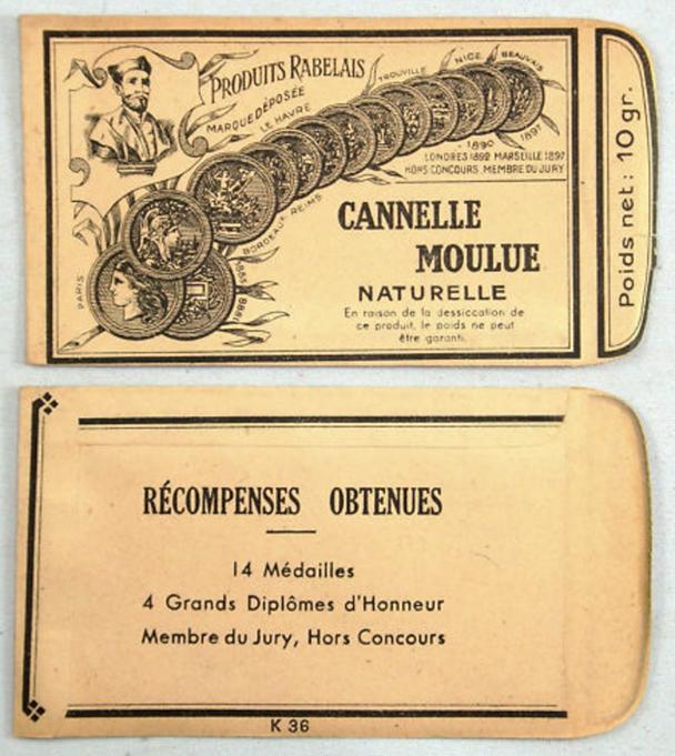 Ancien sachet cannelle