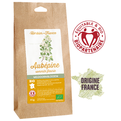 Aubépine L'Herbier de France Bio Equitable Biopartenaire Origine France