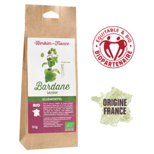 Bardane L'Herbier De France Bio Equitable Biopartenaire Origine France