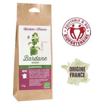 Bardane L'Herbier De France Bio Equitable Biopartenaire Origine France