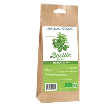 Basilic Feuilles L'Herbier De France Bio