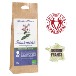 Bourrache L'Herbier De France Bio Equitable Biopartenaire Origine France