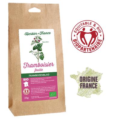 Framboisier L'Herbier De France Bio Equitable Biopartenaire Origine France