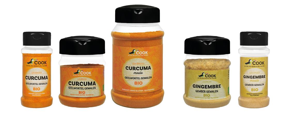Gingembre Et Curcuma Bio Cook Arcadie