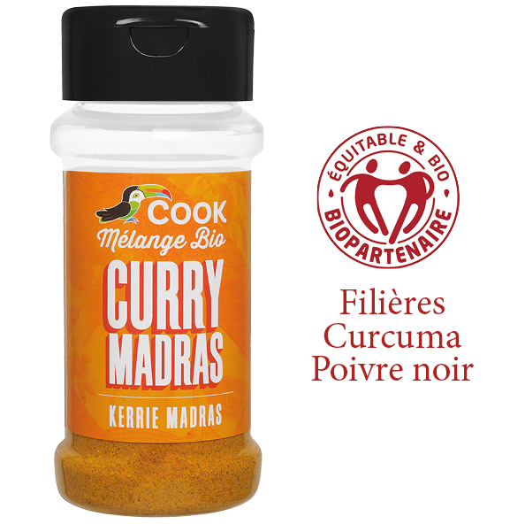 Melange Curry Madras Cook 100ml Bio Equitable Biopartenaire
