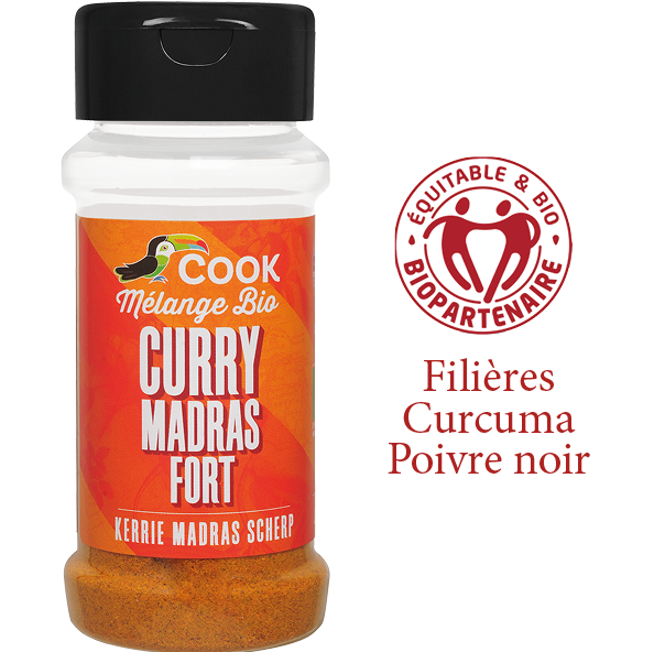 Melange Curry Madras Fort Cook 100ml Bio Equitable Biopartenaire