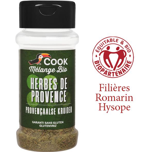 Melange Herbes de Provence Cook 230ml Bio Equitable Biopartenaire