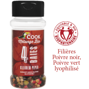 Mélange Quatre Baies Cook 100ml Bio Equitable Biopartenaire
