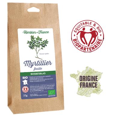 Myrtillier Feuilles L'Herbier De France Bio Origine France