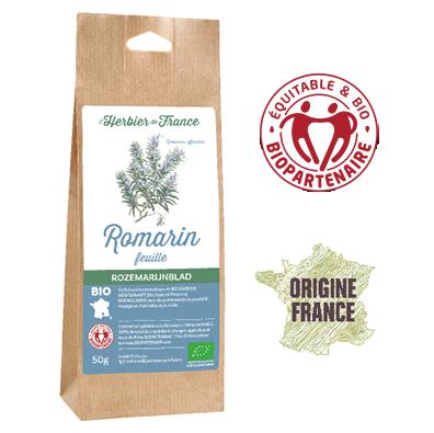 Romarin Feuilles L'Herbier De France Bio Equitable Biopartenaire Origine France