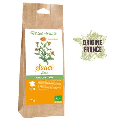 Souci Calendula Fleurs L'Herbier De France Bio Origine France