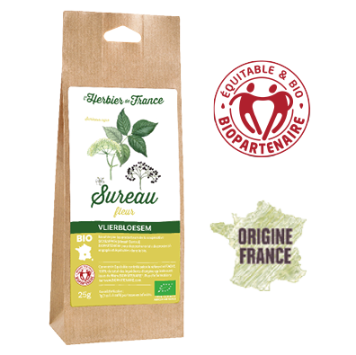 Sureau Fleurs L'Herbier De France Bio Equitable Biopartenaire Origine France