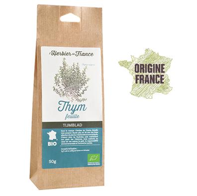 Thym Feuilles L'Herbier De France Bio Origine France