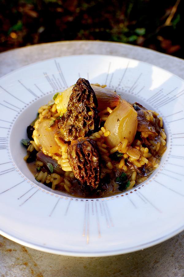 Recette Cook risotto aux cèpes et morilles marjolaine écorce citron