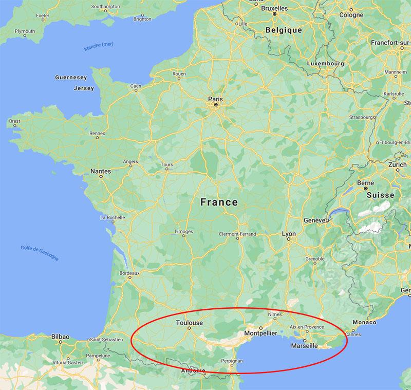 Carte_Filiere_Plantes_garrigues_France