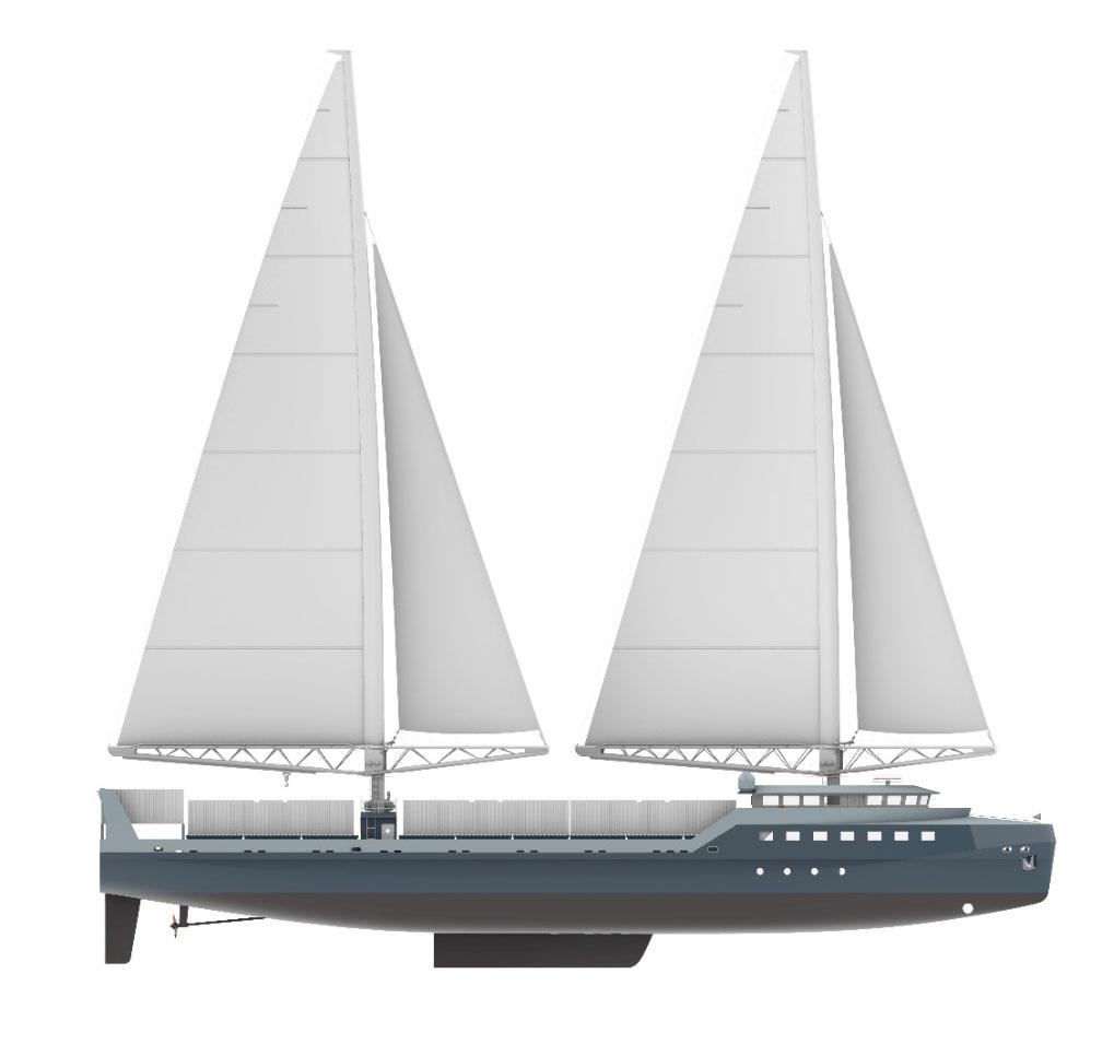 il est possible de rendre le transport maritime beaucoup moins impactant et nous allons nous y employer avec ce futur voilier-cargo (image de synthèse crédit Zéphyr et Borée)