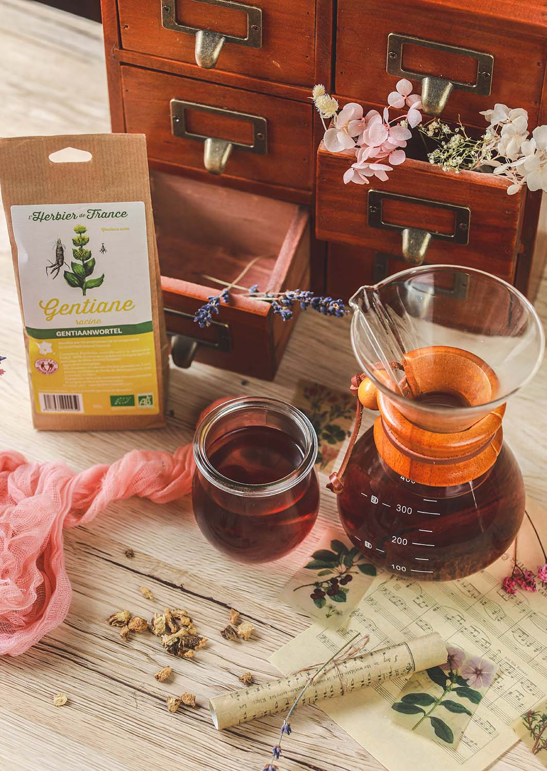 infusion gentiane, anis vert et cannelle