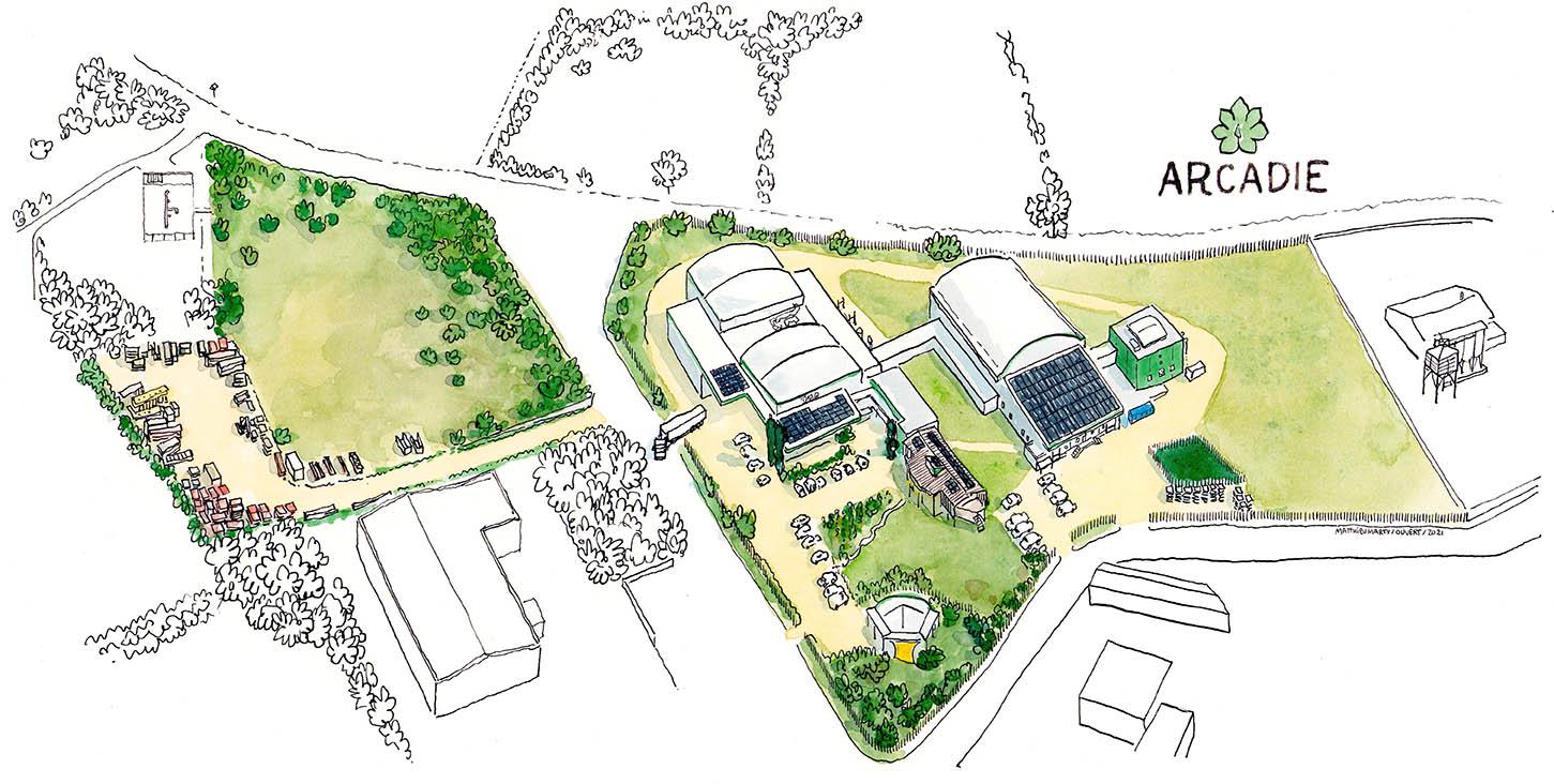 ARCADIE site existant 2021 projet Ouvert Seuil Architecture illustration Matthieu Marty 1450px